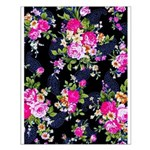 Rose Bouquets on a Black Background Small Poster
