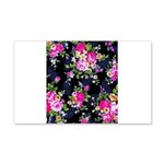 Rose Bouquets on a Black Background Decal Wall Sti