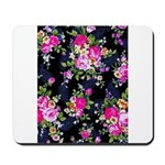 Rose Bouquets on a Black Background Mousepad