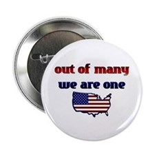 """Out of Many, We are One- Obama 2.25"""" Button"""