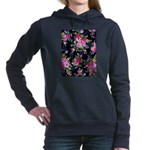 Rose Bouquets on a Black Background Sweatshirt