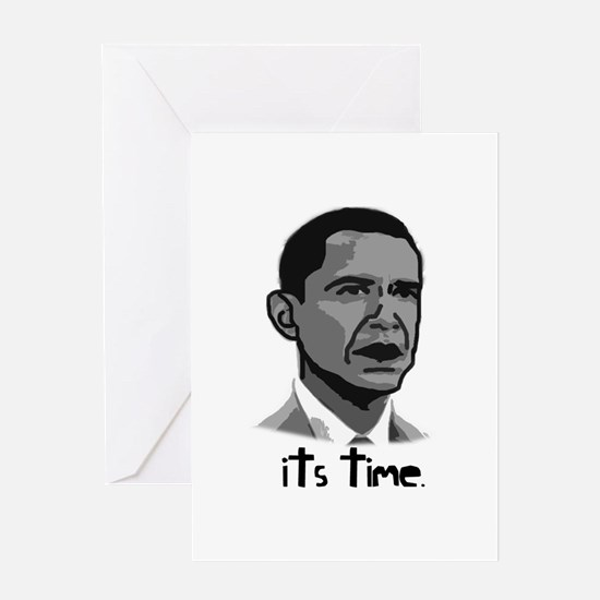 Cute Obama yes we can Greeting Card