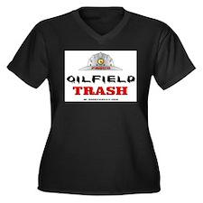 Oilfield Trash Women's Plus Size V-Neck Dark T-Shi