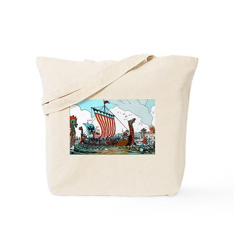 Viking Raid Tote Bag