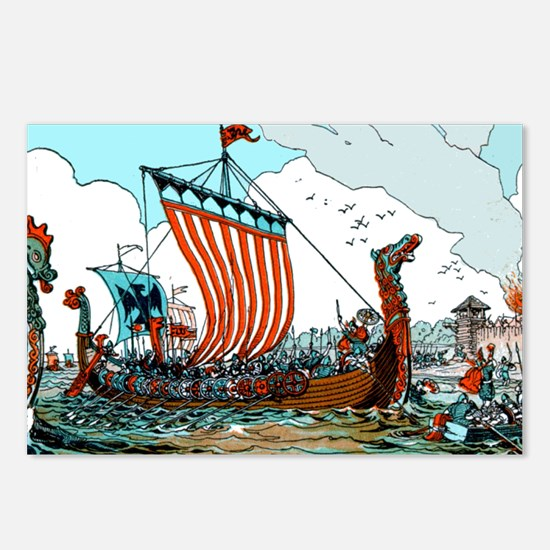 Viking Raid Postcards (Package of 8)
