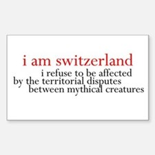 Twilight Sticker - Bella Switzerland Quote