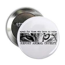 "Report Animal Cruelty Cat 2.25"" Button"