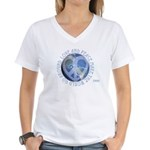 LovePeaceEarth Women's V-Neck T-Shirt