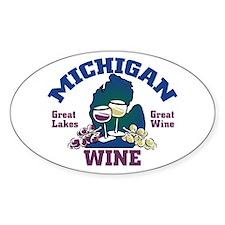 Michigan Wine Oval Decal