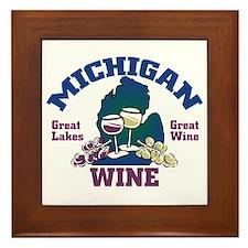 Michigan Wine Framed Tile