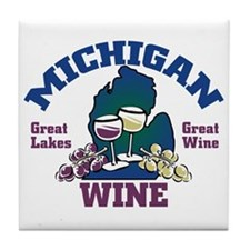 Michigan Wine Tile Coaster