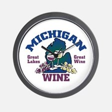 Michigan Wine Wall Clock