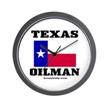 Texas Oilman Wall Clock