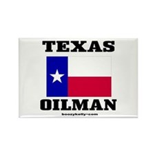 Texas Oilman Rectangle Magnet