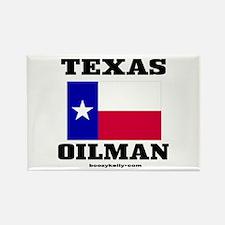 Texas Oilman Rectangle Magnet