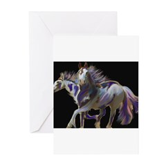 Paint Horses Greeting Cards (Pk of 10)