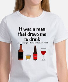 Driven To Drink Women's White T-Shirt