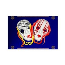 Two Masks Rectangle Magnet