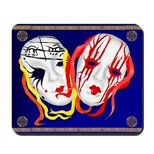 Two Masks Mousepad