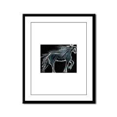 Night Horse Framed Panel Print