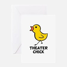 Theater Chick Greeting Card