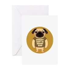 HUMP DAY Pug Greeting Card