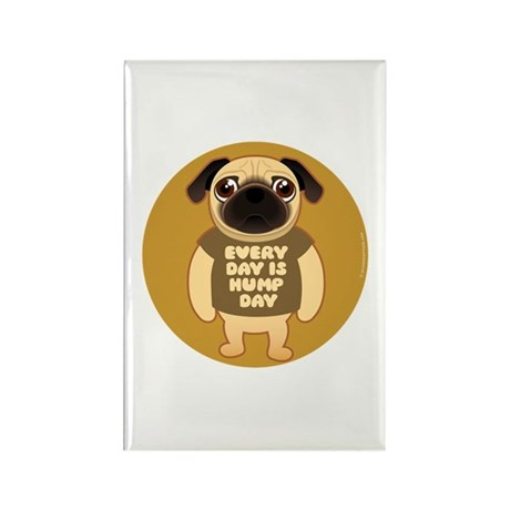 HUMP DAY Pug Rectangle Magnet (10 pack)
