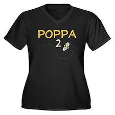 Poppa to Be (Bee) Women's Plus Size V-Neck Dark T-