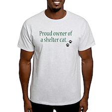 Proud Owner Shelter Cat T-Shirt