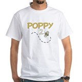 Poppy to bee Mens White T-shirts