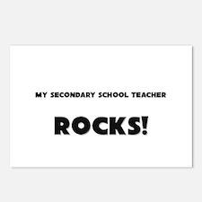 MY Secondary School Teacher ROCKS! Postcards (Pack
