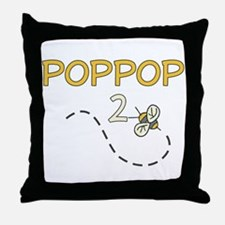 PopPop to Be (Bee) Throw Pillow