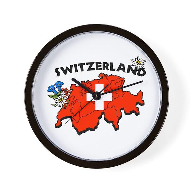Swiss Map Wall Clock By Swisssoup