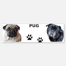 Pug Bumper Bumper Bumper Sticker