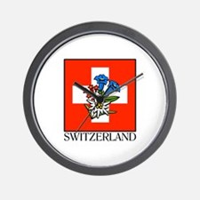 Switzerland Floral Wall Clock
