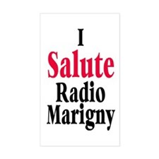 I Salute Radio Marigny Rectangle Decal