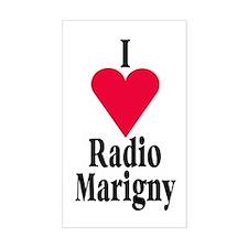 I (heart) Radio Marigny Rectangle Decal