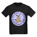 My Best Friend is a Shelter D Kids Dark T-Shirt