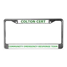 Colton CERT License Plate Frame