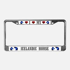 Icelandic License Plate Frame