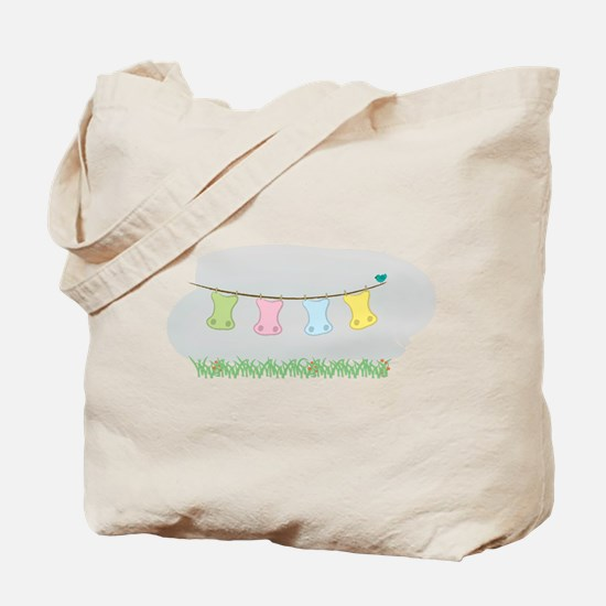 Cute Baby cloth diaper Tote Bag
