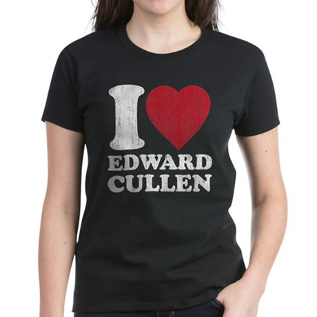 I Love Edward Cullen Women's Dark T-Shirt