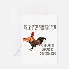 Help Stop Bird Flu Choke More Greeting Card