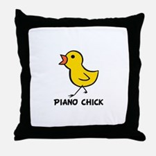 Piano Chick Throw Pillow