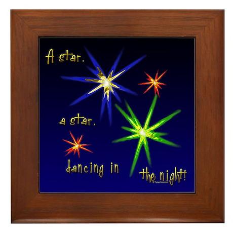 Christmas Stars Framed Tile