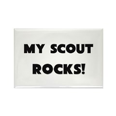 MY Scout ROCKS! Rectangle Magnet (10 pack)