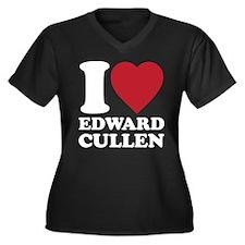 I Love Edward Cullens Women's Plus Size V-Neck Dar