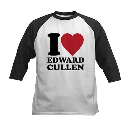 I Love Edward Cullens Kids Baseball Jersey