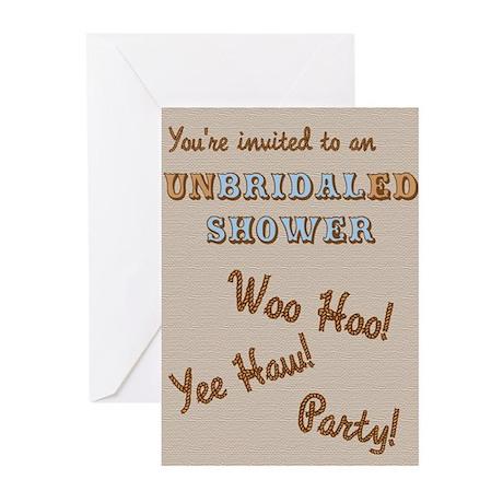 unBRIDALed Shower Invitation Greeting Cards (Pk of