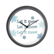 Winter Wall Clock